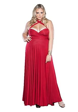 74f0ee6e527b9 Sealed With A Kiss Designs Plus Size Eternity Maxi Convertible Dress  (Harvest Collection)