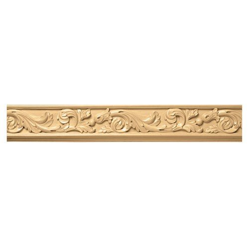 Brown Wood Inc. 01806001SM1 Acanthus Carved Wood Frieze, Soft Maple