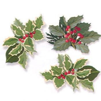 Tabletop Decorations Holly Berry Doily Assortment - 1