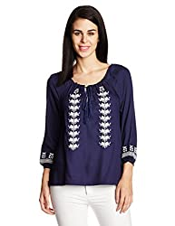 Chemistry Women's Tunic Top (C16-108WTTOP_Navy_Large)