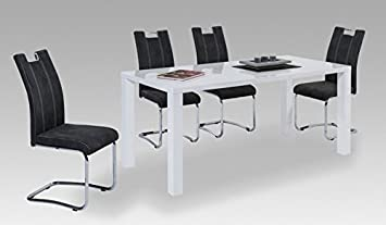 Dining Table High-Gloss White New 'Riga'OVP