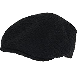New Wool Burlap IVY Golf Driver Cabbie Hat Cap Black Medium Large
