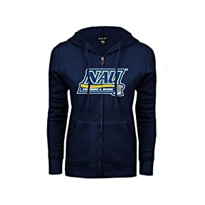 Northern Arizona Ladies Navy Fleece Full Zip Hoodie-Large, Swim and Dive