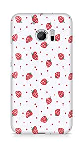 Amez designer printed 3d premium high quality back case cover for Htc One M10 (strawberries)
