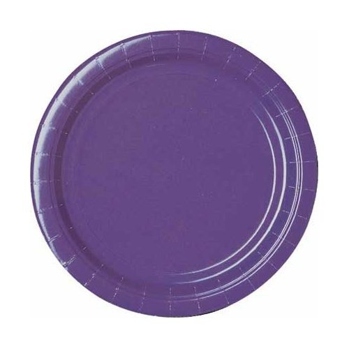 New Purple Lunch Plates 24ct - 1