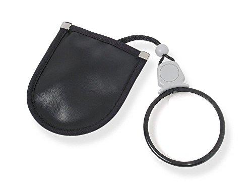 Carson MagniLook 3x Pendant Magnifier with 6x Spot Lens and Neck Cord