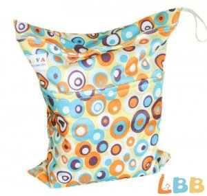 Baby Wet And Dry Cloth Diaper Bags, Bubble Printed