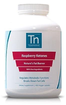 100% Pure Raspberry Ketones: 400 Veggie Capsules, 500mg Per Capsule ...