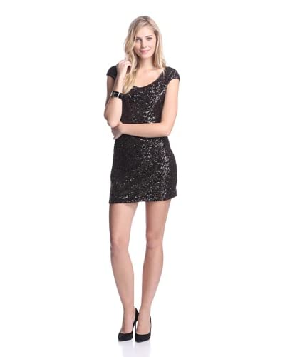 Muse Women's Sequined Dress with Back Cutout