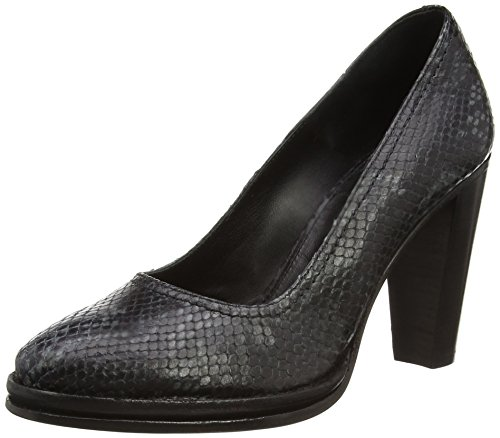 Fred de la Bretoniere Fred pump with 9cm heel elegant New York, Decolleté chiuse donna, Nero (Schwarz (Black 002)), 39