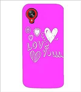 PrintDhaba Love D-4411 Back Case Cover for LG GOOGLE NEXUS 5 (Multi-Coloured)