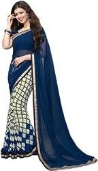 Shyam creation new ayesha checks Blue saree(ayesha Checks)