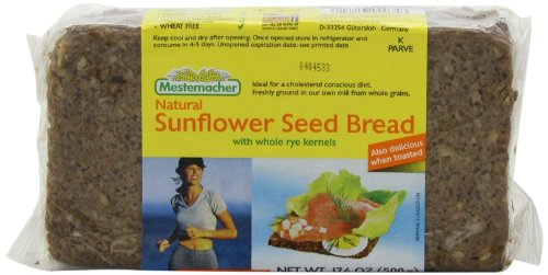 Mestemacher Bread Sunflower Seed, 17.6-Ounce (Pack of 6)