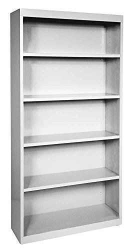 Welded Steel Bookcase in Dove Gray Finish