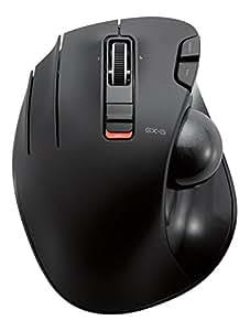 ELECOM マウス トラックボール ワイヤレス 左手用 6ボタン ブラック M-XT4DRBK