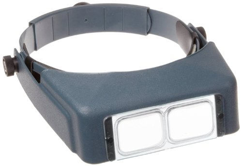 "Donegan Lx-5 Optivisor Headband Magnifier, 2.25X Magnification Optical-Grade Acrylic Lens Plate, 8"" Focal Length"