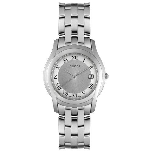 Gucci YA055305 - Reloj de hombre de cuarzo plateado