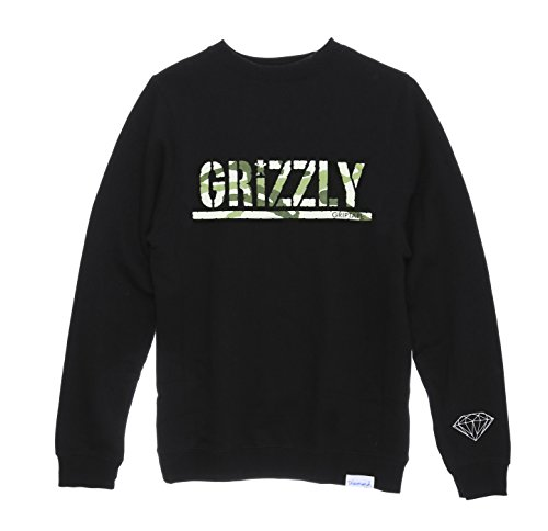 Diamond Supply Co. Men's Stamp Camo Fleece Crewneck Sweatshirt-Black-3XL (Diamond Supply Co Crew Fleece compare prices)