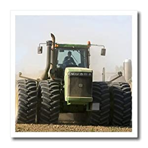 ht_91183_3 Danita Delimont - Farms - Farm Tractor, Lapeer County Michigan - US23 DFR0088 - David R. Frazier - Iron on Heat Transfers - 10x10 Iron on Heat Transfer for White Material
