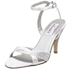 Strappy heel bridal shoes