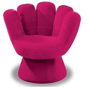 Amazon Com Lumisource Plush Mitt Chair Hot Pink Kitchen