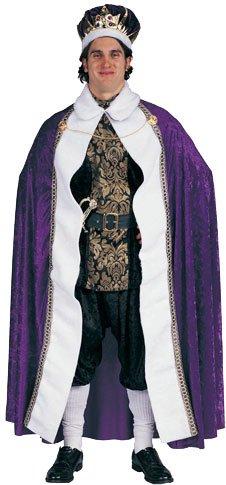 Adult Men's Velvet King's Robe Mardi Gras Halloween