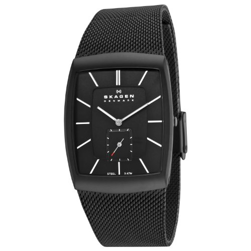 Skagen Designs Men's Matte Steel Analogue Watch 915XLBSB with Black Dial