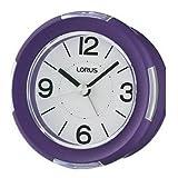 Lorus LHE042L Bedside Alarm Clock, Violet