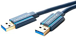 USB 3.0 Cable - High Speed Data Cable A/A Plug Combination - Clicktronic Germany