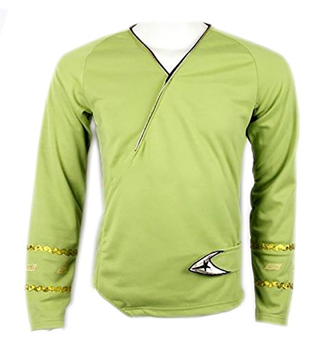 Star Trek Green Wrap Command Uniform Costume Shirt (L)