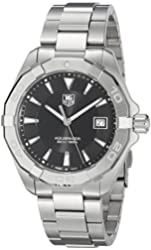 TAG Heuer Men's 'Aquaracer' Quartz Stainless Steel Dress Watch, Color:Silver-Toned (Model: WAY1110.BA0928)