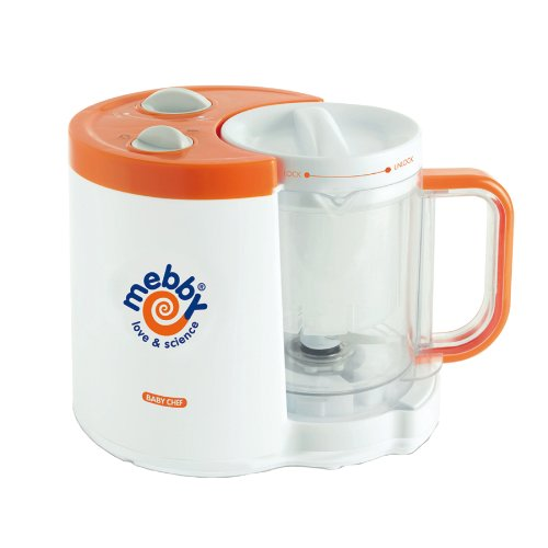 Baby Chef Multifunctional Cooker (white And Orange) By Mebby
