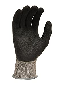 G & F 22600M CUTShield Slash Resistant Gloves Cut Resistant Level 5 EN388 CE Approved, Rubber Coated, grey, Medium