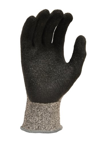 G & F 22600L CUTShield Cut Resistant Level 5 Work Gloves, Rubber Coated, grey, Large (Puncture Proof Work Gloves compare prices)