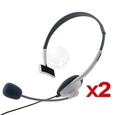 2 NEW LIVE HEADSET+MIC For XBOX 360 WIRELESS CONTROLLER