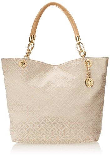 Tommy Hilfiger TH Signature Jacquard Shoulder Bag,Khaki Tonal,One Size