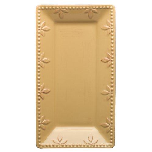 Signature Housewares Sorrento Stoneware Serving Tray, Gold