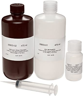 Oakton WD-35802-90 Silver/Sulfide Ag+/S-2 Single Junction Solution Kit, 107900 - 0.01 ppm Range