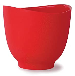 iSi Basics Flexible Silicone Mixing Bowl, One Quart, Red