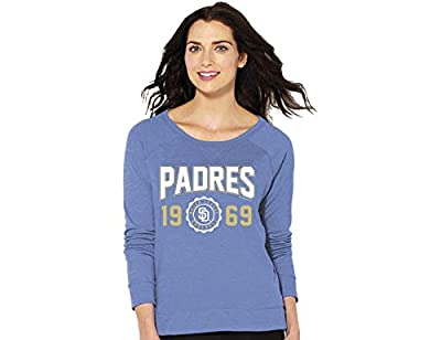 MLB San Diego Padres Women's Crew Neck Sweatshirt, Large, Blue