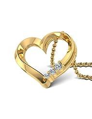 CaratLane 18K Yellow Gold Diamond Pendant - B00NM9YABQ