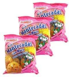 Bimbo - Mini Mantecadas Con Nuez - Pecan Mini Muffins - 3 Packs