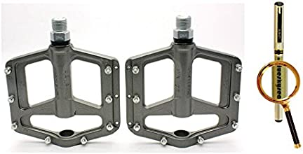 Blueskysea Free Gift Gel Pen  2014 Large Platform Wellgo FG-1 Bike Pedals MTB BMX Magnesium Alloy 91