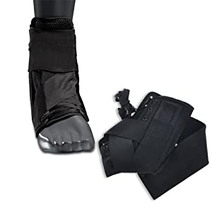 Ankle Brace Stabilizer with Straps, Ankle Support, Sprained Ankle, Foot Sprain Wrap... by Houseables
