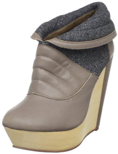 Messeca Women'S Charmene Ankle Boot,Taupe,9.5 M Us