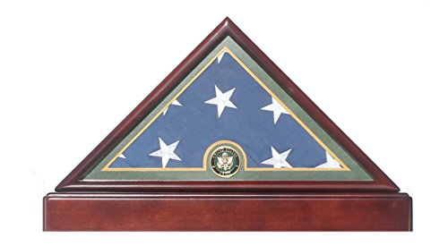 Honorable U.S. Army FLAG DISPLAY CASE Military Shadow Box for 5'X9.5' Burial/Funeral/Casket Folded, FC59 (Flag Display Case Army compare prices)
