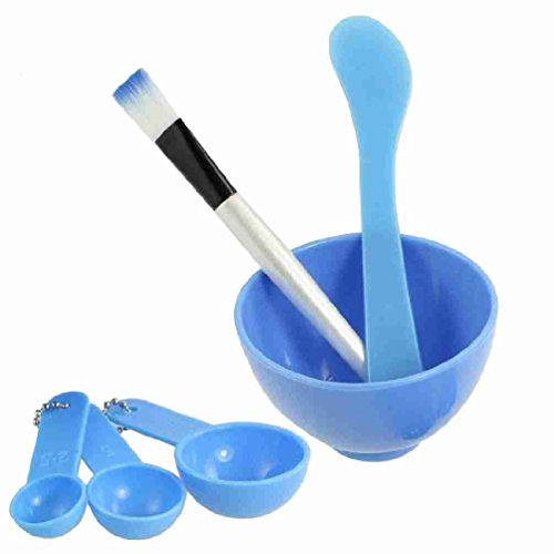 uxcell Blue 4 in 1 DIY Facial Mask Mixing Stick Brush Gauge 8.5cm Bowl Kit (Facial Mixer Bowl compare prices)