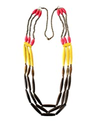 Chic Collection Resin Tube Long Necklace For Women