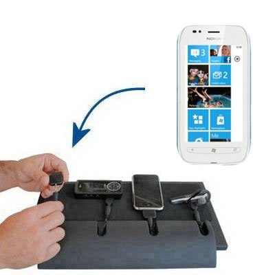 Unique Gomadic 4-Port Charging Station for the Nokia Lumia 710 - Charge four devices with TipExchange Technology