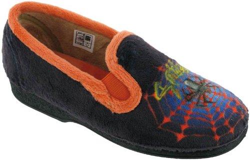 Mirak Boys Spider Warminster Childrens Slippers Textile Rubber Slip On Footwear